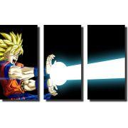 Quadro Dragon Ball z goku super sayajin 3 Peças Para Sala m4