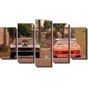 Quadro Decorativo Carro do Velozes e furiosos Varias Peças