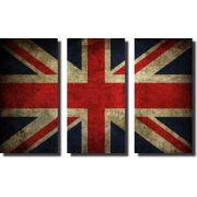 Quadro Decorativo Bandeira Nacional do Reino Unido Varias Peças