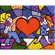 Quadro Romero Britto - Heart Kids