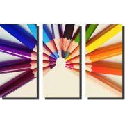 Quadro Decorativo de Lápis de cor Varias Peças