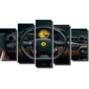 Quadro Decorativo Volante de Ferrari Varias Peças