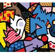 Quadro Decorativo Romero Britto Best Friends 90x 100 Cm