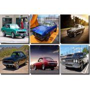 Kit Quadros 6 peças Carros Antigos 30x30