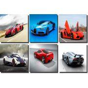 Kit Quadros 6 peças Carros Velozes  30x30