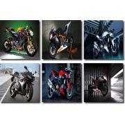 Kit Quadro 6 peças Motos Velozes