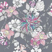 Papel de Parede Flores Coloridas Rolo De 0,60 x 3,00