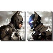Quadro Decorativo Batman vs Batman de Ferro Varias Peças