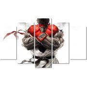 Quadro Decorativo Street Fighter Ryu Lutador Varias Peças