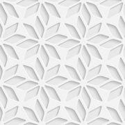 Papel Parede 3D Floral Estrelado Autocolante