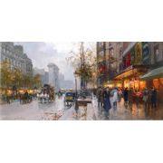 Adesivo Decorativo Parede Paris Pintor Frances