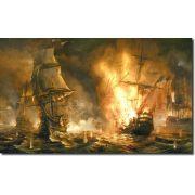 Quadro Decorativo Batalha Naval Vintage Varias Peças