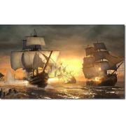 Quadro Decorativo Batalha Naval Vintage Varias Peças M2