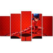 Quadro Decorativo Desenho Infantil Ladybug Para Sala e Quarto