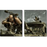 quadro decorativo filme Mad Max para quarto e sala 2 peças