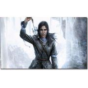 quadro decorativo jogo rise of the tomb raider para quarto e sala 1 peça