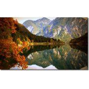 Quadros Decorativos Paisagem Lago Com Montanha 1 Peça