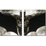 quadro decorativo filme batman vs arkham para quartos e salas 2 peças