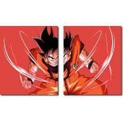 Quadro Decorativo Dragon Ball  Z Goku Super Sayajin  2 peças m9