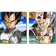 Quadro Decorativo Dragon Ball  Z Goku Super Sayajin  2 peças m14