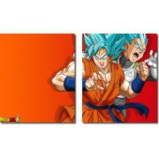 Quadro Decorativo Dragon Ball  Z Goku Super Sayajin  2 peças m15