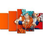 Quadro Decorativo Dragon Ball  Z Goku Super Sayajin  5 peças m15