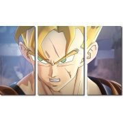 Quadro Decorativo Dragon Ball  Z Goku Super Sayajin  3 peça m19