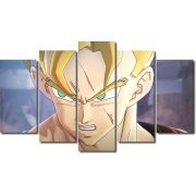 Quadro Decorativo Dragon Ball  Z Goku Super Sayajin  5 peça m19
