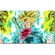 Quadro Decorativo Dragon Ball Goku Super Sayajin 1 Peça M21