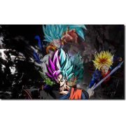 Quadro Decorativo Dragon Ball Goku Super Sayajin 1 Peça M22