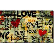 Quadro Decorativo Frases Love 1 Peça