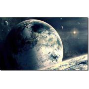 Quadro Decorativo Paisagens Planetas 1 Peças