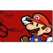 Quadro Decorativo Jogo Super Mario Fundo Vermelho 1 Peça