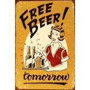 quadro retrô Free Beer