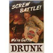 Quadro Retrô Cerveja Screw Batle