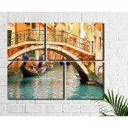 4 Quadros Decorativos Cidade Veneza Ponte