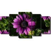 Quadro Decorativo 5 peças modelo flor