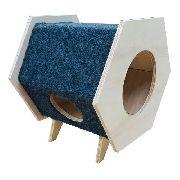 Casa Para Gato Com Arranhador Minimalista