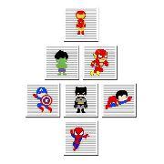 Kit 7 Quadros Decorativos Super Heróis Baby Para Criança