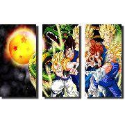 Quadro Dragon Ball Z Goku Super Sayajin 3 peças