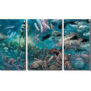 Quadro Decorativo Filme Aquamen Para Quartos E Salas 3 Peças