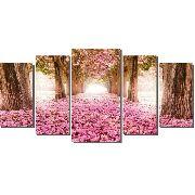 10 Quadro Decorativo Caminho Com Ipê Rosa Florido Atacado