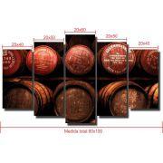 Quadro Decorativo Adega , Vinho 5 Peças Para Sala,Quarto