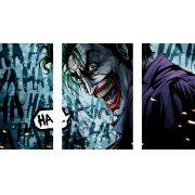 Quadro Decorativo Coringa 3 Peças  Para Sala E Quarto Batman
