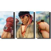 Quadro Decorativo Street Fighter Varias Peças Para Sala , Quarto