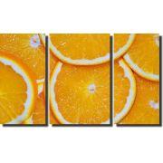 Quadro Decorativo Laranja 3 peças Para Sala e Cozinha