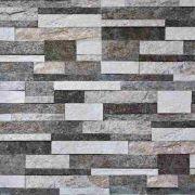 Papel Parede Decorativo Tijolinho Cinza Rolo de 0,60 x 3,00