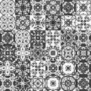 Azulejos Adesivo Decorativos Preto Branco Kit 36 Unidades