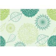 Papel De Parede Floral  Verde Claro Rolo De 0,60 x 3,00