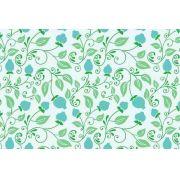 Papel De Parede Floral Para Sala Quarto Rolo 0,60x3,00